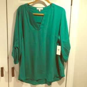 Chaus NWT Plus Size Blouse Field Green Size 2x